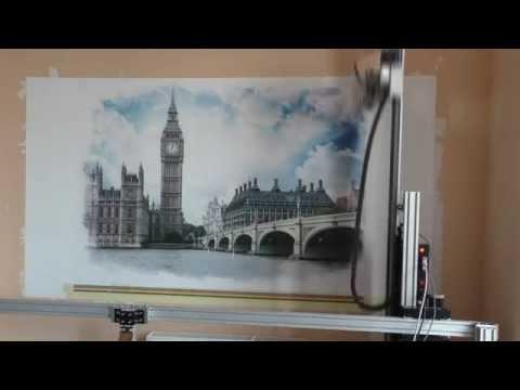 Печать фотографии Биг-Бэна на стене.