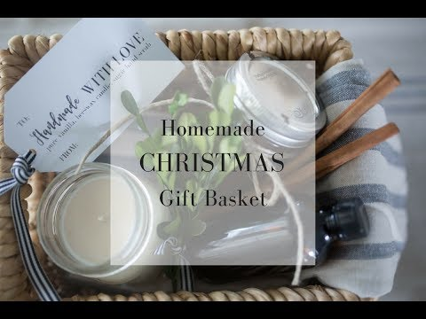 Homemade Christmas Gift Ideas- Gift Basket Tutorial