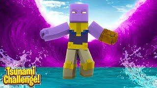 THANOS UNLEASHES A TSUNAMI AT US! - Minecraft Thanos