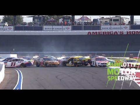 Ryan Newman Takes Damage, Turns Around In Late Pileup | NASCAR At Charlotte Motor Speedway Roval