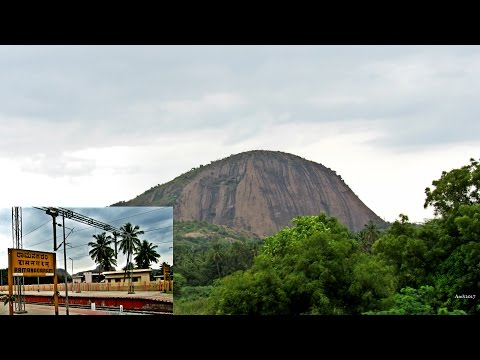 Ramanagaram Hills - Sholay Movie Shooting Location As Seen From A Moving Train