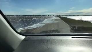 El fuerte viento complica mas la ruta en Vertiz