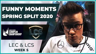 Funny Moments - LCS & LEC Week 5 - Spring Split 2020