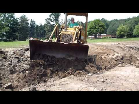 Cat 931 Trackloader Backfilling A Ditch