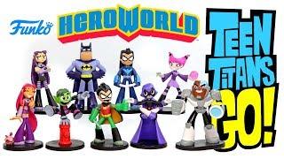 "Teen Titans Go! w/ Batman & Nightwing HeroWorld 4"" vinyl figures by Funko Unboxing Target Exclusive"