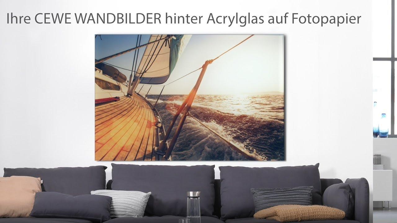 CEWE WANDBILDER Hinter Acrylglas Auf Fotopapier