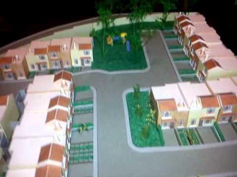 Maqueta casas urbanizaci n las cupulas guatemala scale - Como hacer una maqueta de una casa ...