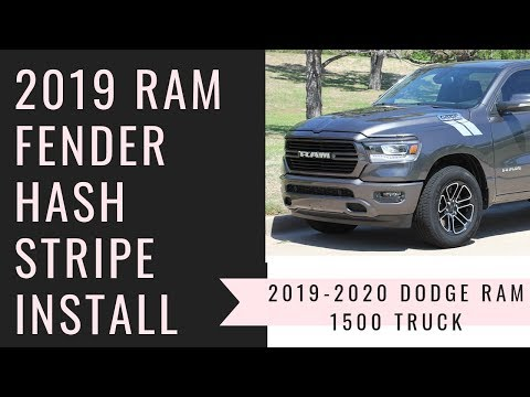 Dodge Ram Stripes RAM HASHMARKS Decals for 2019 2020 | YouTube