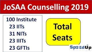 JoSAA Counselling 2019  IITs / NITs / IIITs / GFTIs and Total Seats  IIT JEE 2019