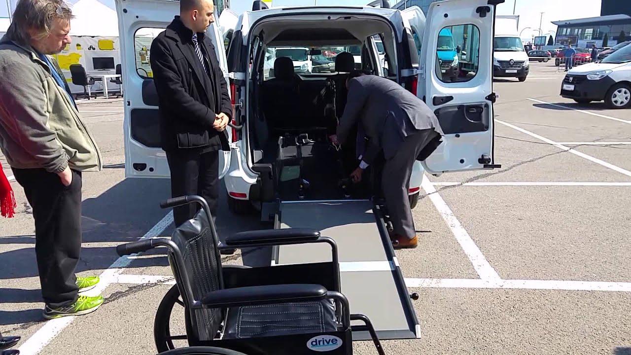Демонстрация на  Дачия Докер, оборудвана за инвалидна количка