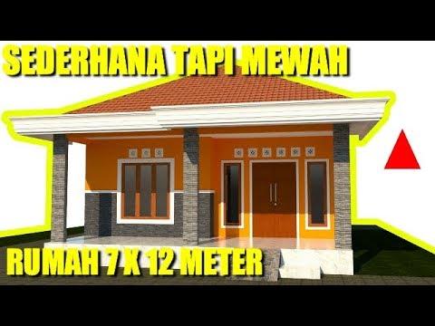 Desain Rumah Minimalis Modern Di Lahan 7 X12 Meter 3 Kamar Tidur 1 Lantai Youtube