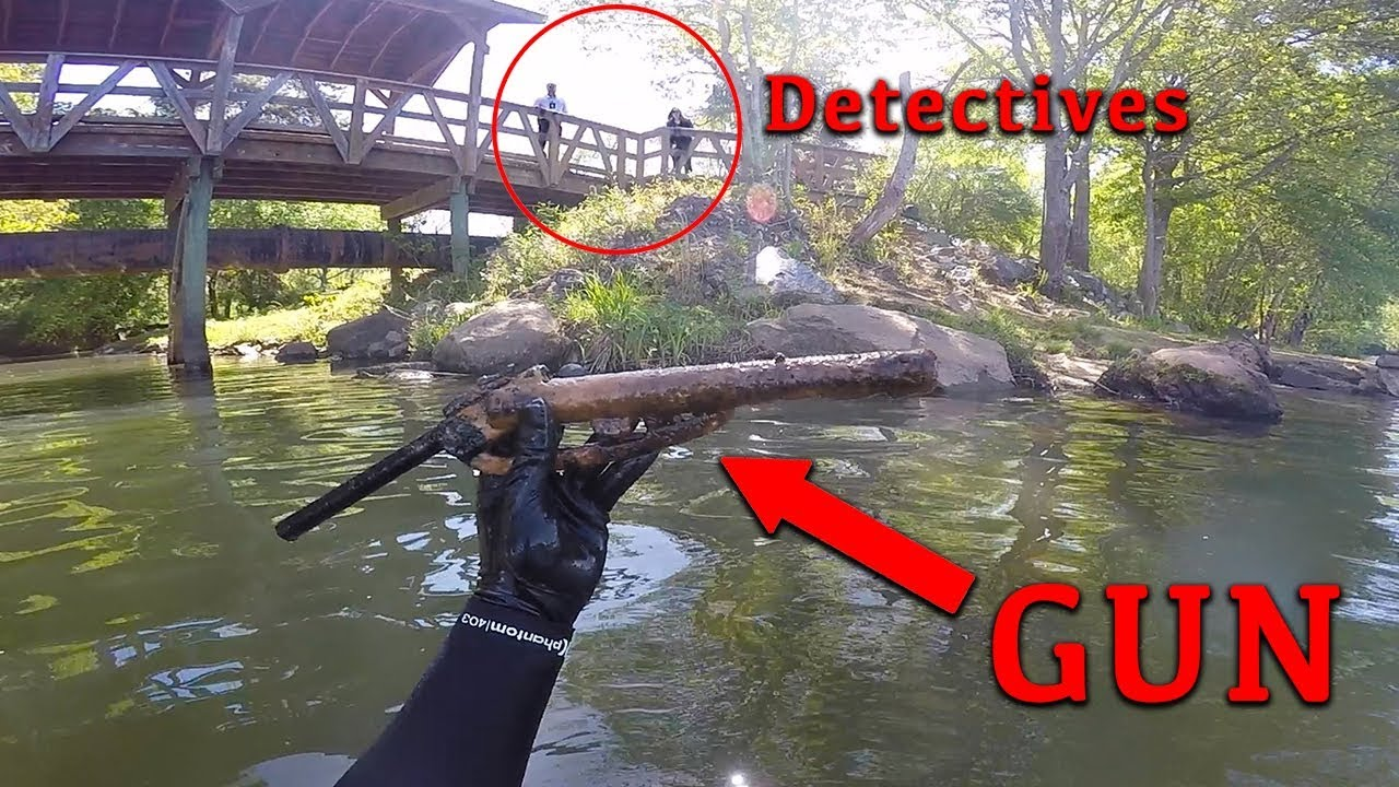 Working With Detective Unit to find GUN involved in Shooting!! (Underwater) 895eacc8b