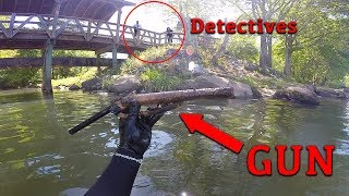 Working With Detective Unit to find GUN involved in Shooting!! (Underwater) | Jiggin' With Jordan