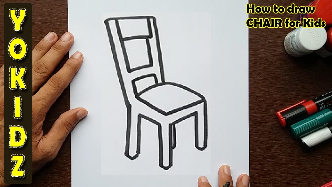 How To Draw A Chair For Kids Youtube