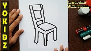 How to draw a CHAIR for kids
