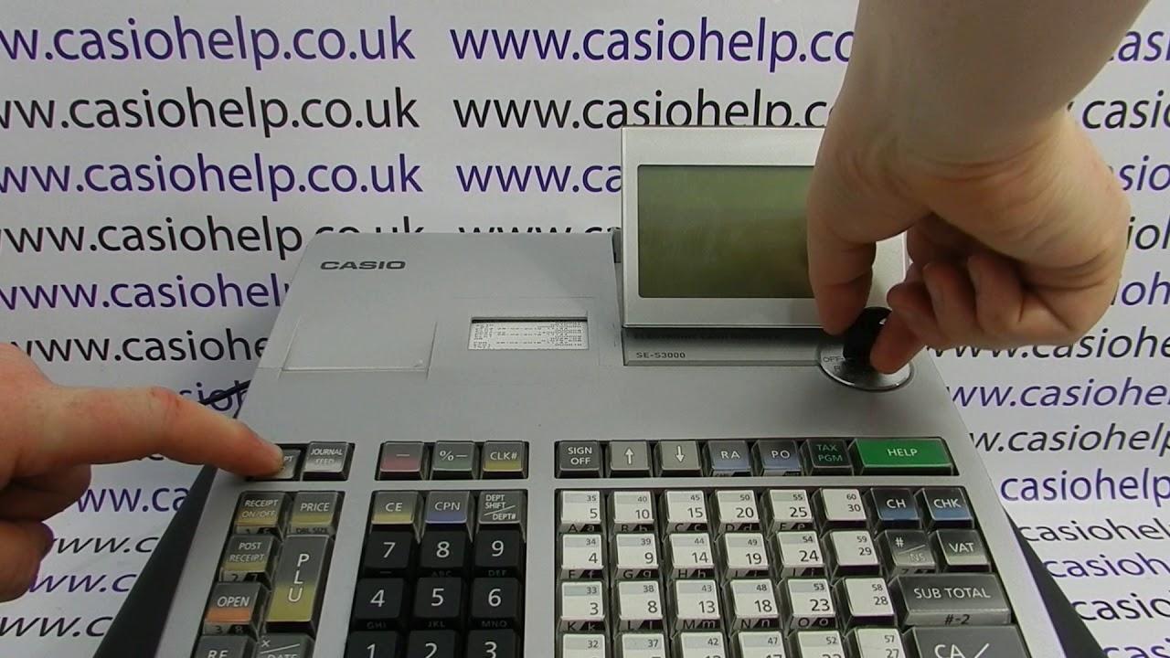 Casio SE-S3000 Cash Register Silicone Rubber Splash Proof Wetcover SES3000 L1