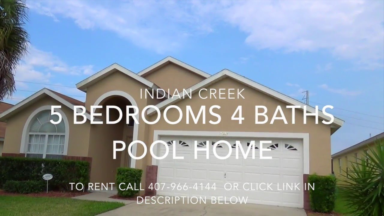 Indian creek 5 bedroom rental 407 966 4144 kissimmee - 7 bedroom vacation rentals in orlando ...