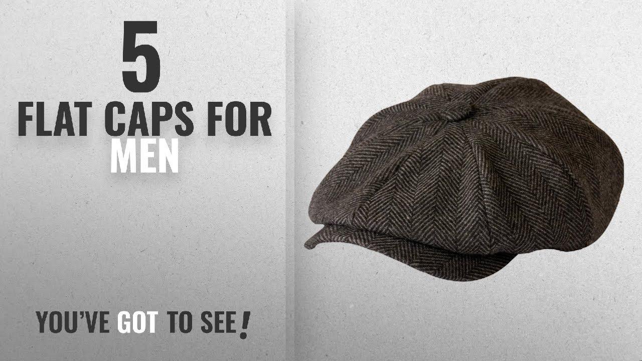 905b3eec0a8b7 Top 10 Flat Caps For Men  2018    Shelby  Newsboy Grey Herringbone Cloth Cap  By Gamble ...