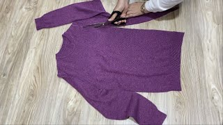[DIY]Look at the amazing transformation of knitwear! | Just watch it. You won't regret it!