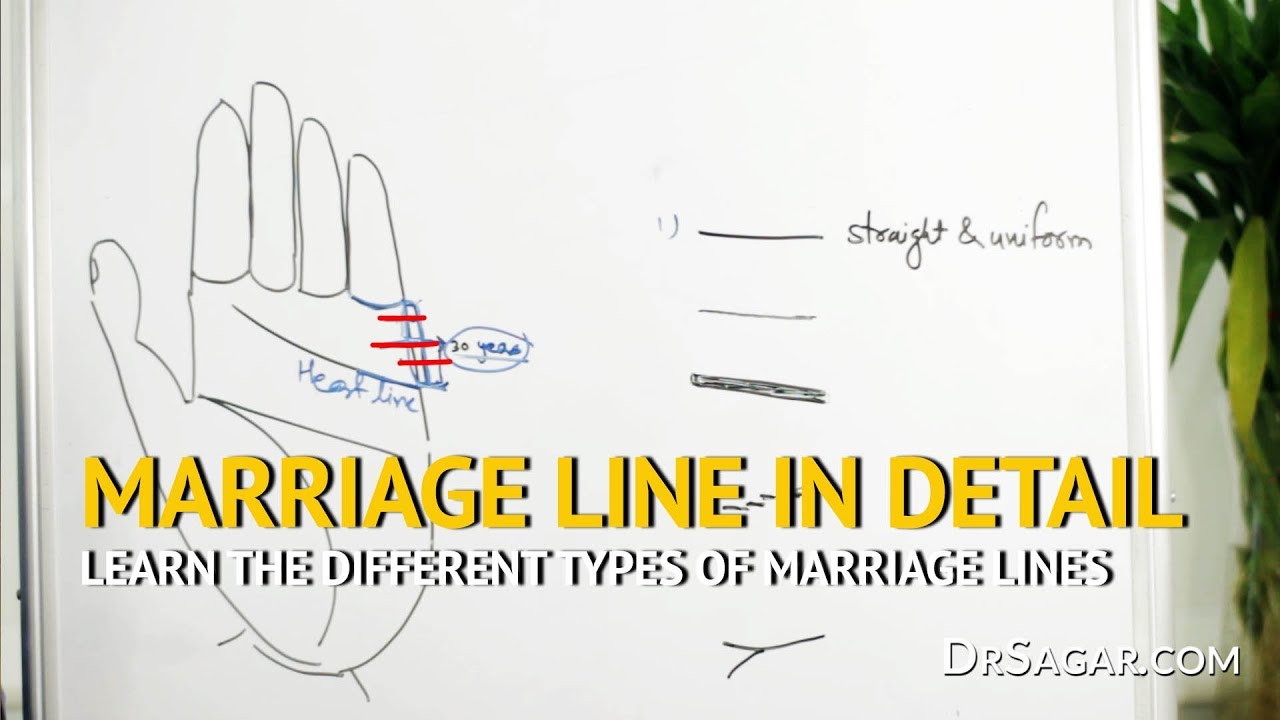 different types of marriage lines palmistry palm reading [ 1280 x 720 Pixel ]