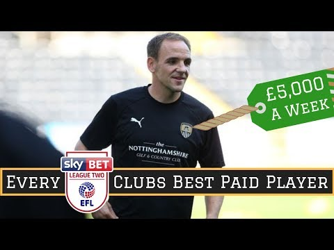 Best Paid Player at EVERY League Two Club