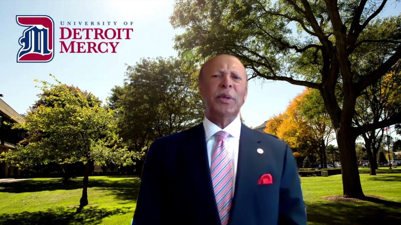 University of Detroit Mercy President Antoine M. Garibaldi recognizes and congratulates the Titan Class of 2020.