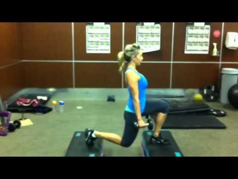 glute shaping exercise for women dumbbell split squats