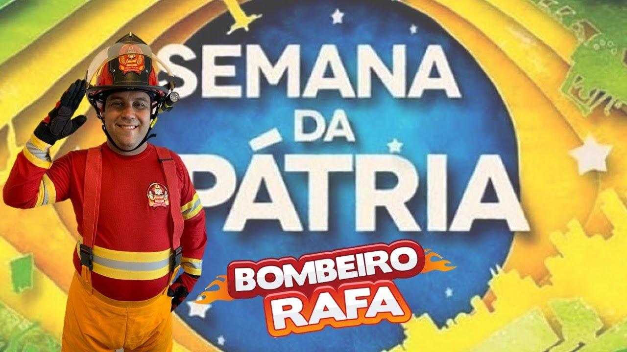 HINO NACIONAL BRASILEIRO COM LETRA - SEMANA DA PÁTRIA - CANTE COM O BOMBEIRO RAFA