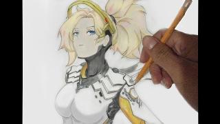 Cómo dibujar a Mercy - Overwatch   How to draw Mercy - Overwatch