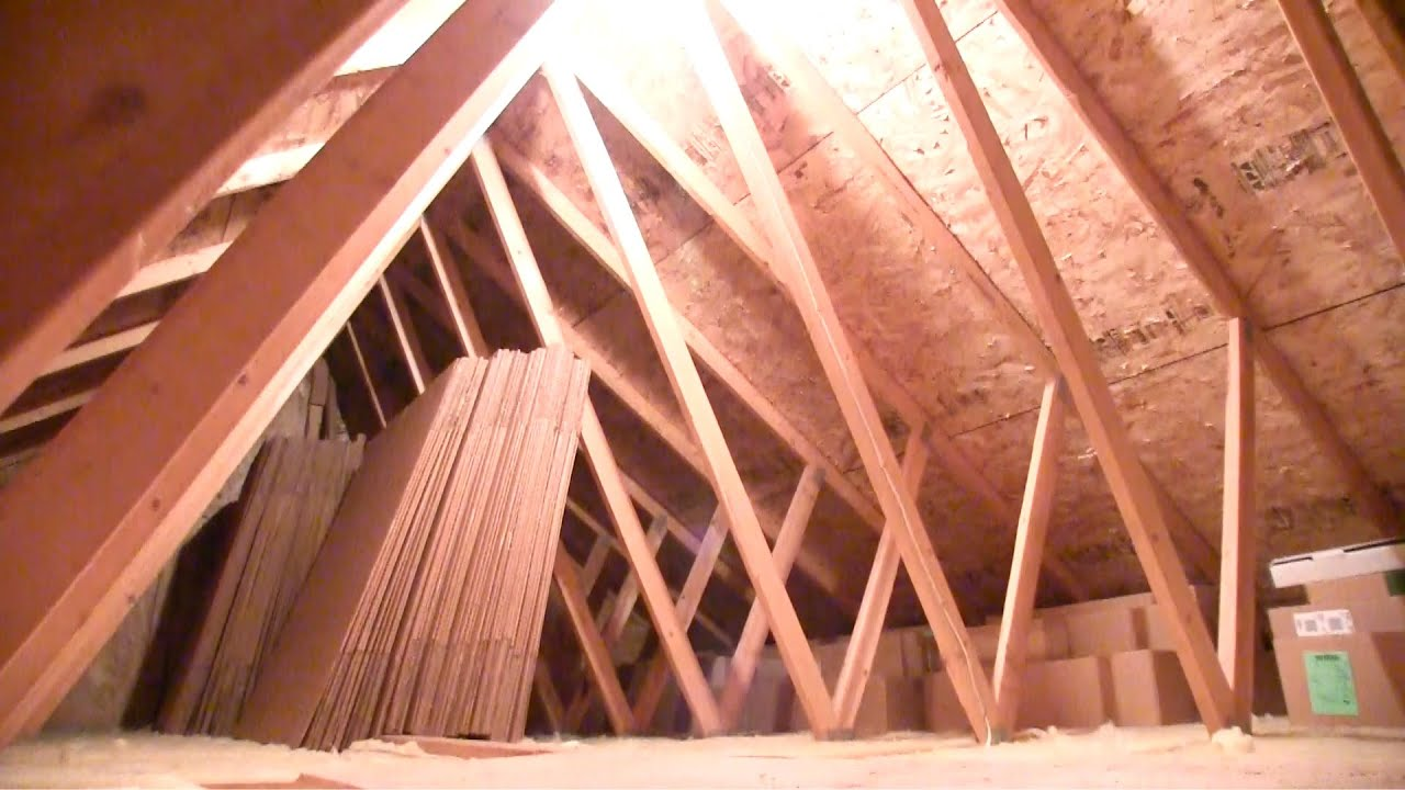 how to install an attic light