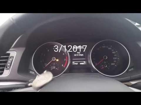 VW PASSAT 2016 - Key not in range (Both keys)
