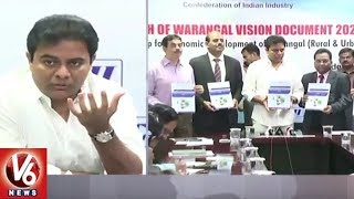 IT Minister KTR launches Warangal Vision Document 2028 | Hyderabad | V6 News