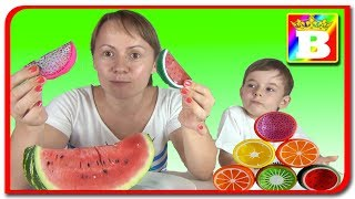 Slime vs Fructe Reale  Mancare ADEVARATA vs Slime la Bogdans`s Show