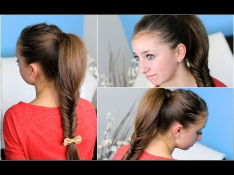 How to make a Fluffy Fishtail Braid