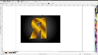 cORELDRAW (6) Золотая надпись / имитация золота. How to create a gold text