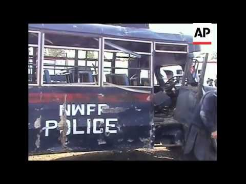 Suicide attack in northwest kills three; AP pix of a