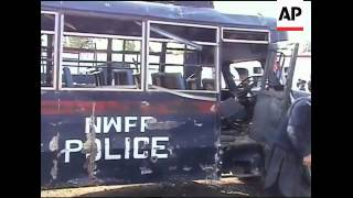 Suicide attack in northwest kills three; AP pix of a