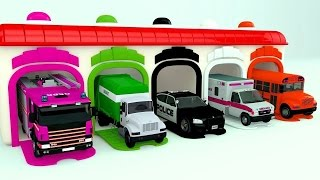 Colors for Children to Learn with Street Vehicles - Colours for Kids to Learn - Learning Videos