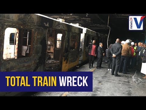WATCH: Cape Town station in ruin after overnight fires, looting
