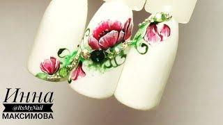 🌸 ШИКАРНАЯ ЦВЕТОЧНАЯ композиция 🌸 РИСУЕМ ЦВЕТЫ на ногтях 🌸 Дизайн ногтей гель лаком 🌸