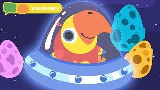 Learn First Words w Larry The Bird - Spaceship | Toddler Learning Video Words | First University