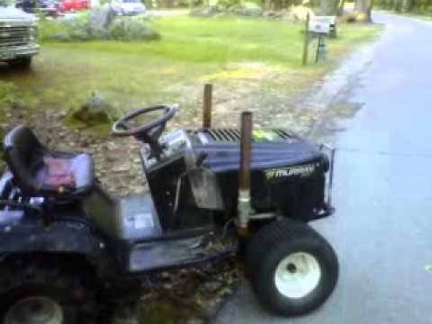 Lawn Tractor With Stacks