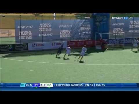 Japan vs South Africa hero hockey world league