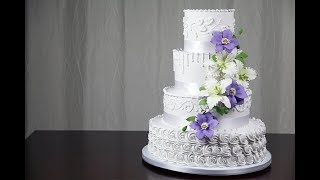 How To Make your Own Buttercream Wedding Cake | Part 2 | Global Sugar Art