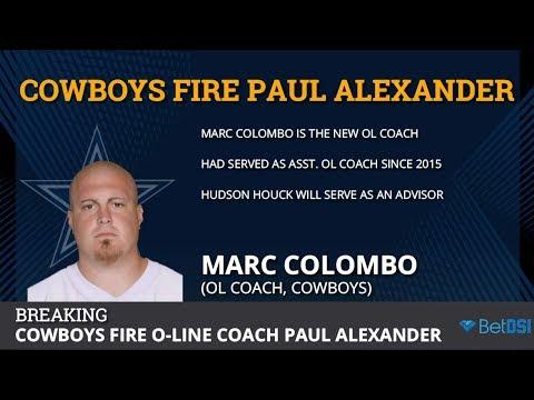 Cowboys Fire Offensive Line Coach Paul Alexander, Promote Marc Colombo
