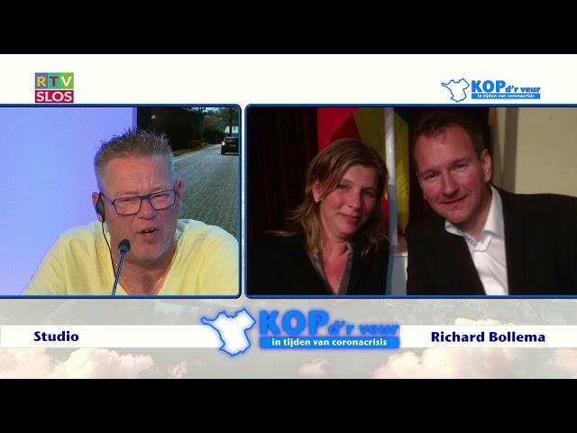 Richard Bollema in de uitzending van Kop d'r Veur op 24 juni 2020