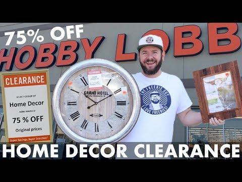 🏃♂️ RUN!!! Home Decor CLEARANCE Sale at Hobby Lobby - 75% off! YASS!
