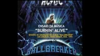 """AC/DC - Sessões do Gravação do """"Ballbreaker"""" - """"Burnin"""
