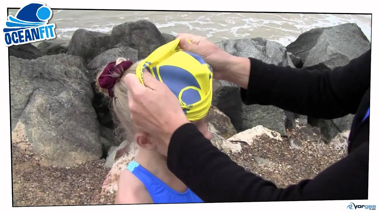 ce22956a61f OceanFit  How to put a swim cap on a child - YouTube