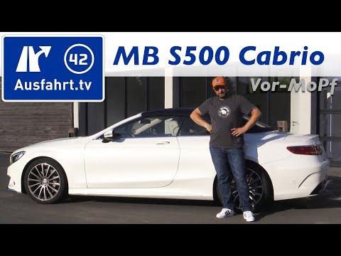 2017 Mercedes-Benz S 500 Cabriolet (A217) - Kaufberatung, Test, Review